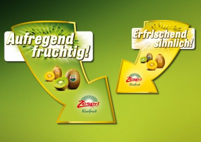 Zespri-Markt-Promotion-Pfeile